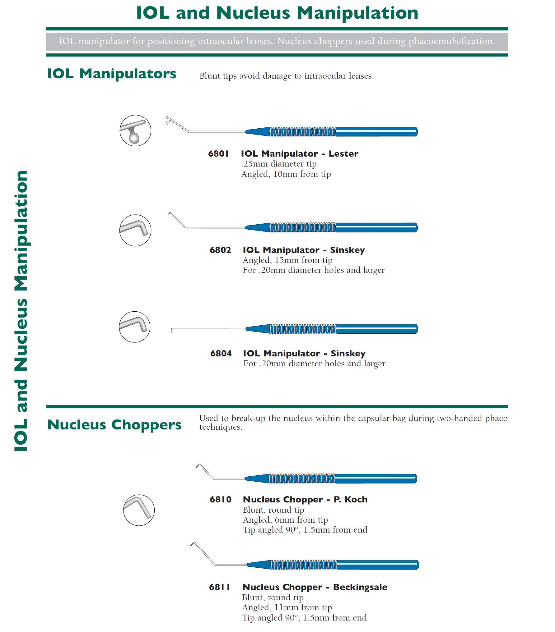 IOL & Nucleus Manipulatoren